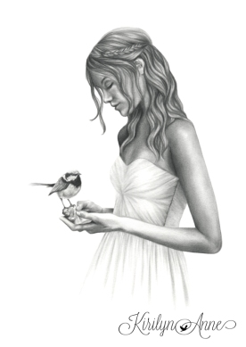 MOMENT OF BEAUTY, Graphite pencil