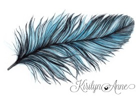 FEATHER, Watecolour, pen and ink